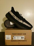 Adidas Yeezy Boost 350 V2 Core Black White Oreo Size 11.5 Kanye Bnib Ds By1604