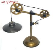 Industrial Brass Table Lamp Antique Brass Table Lamp Desktop/table Top Lamp Gift