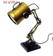 Table Top Search Light Lamp Antique Finish Brass Lamp Home/office Decorative