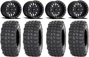 Method 406 15 Beadlock Black 4+4 Wheels 35 X Comp Tires Sportsman Rzr Ranger