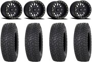 Method 406 15 Beadlock Black 4+4 Wheels 35 X Comp At Tires Rzr Turbo S/rs1