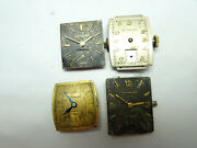 4 Wittnauer Longines Watch Movements And Dial For Vintage Repair 9wn 77n 8t 84r