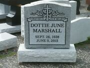 Cemetery Granite Headstone 24 X 6 X 24 Includes Engraving Free Shipping