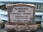 Cemetery Granite Headstone 20 X 6 X 20 Includes Engraving Free Shipping