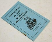 Vintage Wolfpack Motorcycle Club Mc Biker Constitution And By-laws Pennsylvania