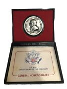 General Horatio Gates Us Mint Americas First Medals 38mm Pewter Coa
