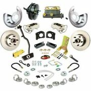 Right Stuff Zdc6708 Disc Brakes Front Solid Rotors Calipers For Ford Mercury New