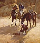 Howard Terpning Cowboy Artists Of America 5 Giclee Canvas W/collector Book 336