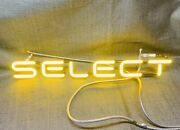 """Neon Sign Repair Tube Budweiser Select 19""""x2"""" 2 3/4""""w-tip Replacement Tube"""