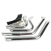 Staggered Shortshots Exhaust Heat Shield Fit For Harley Sportster 883 1200 04-13