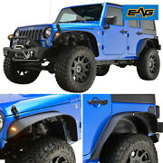 Eag Fit 07-18 Jeep Wrangler Front Andrear Fender Flare And Inner Fender Liners