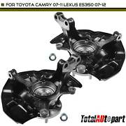 2pcs Wheel Bearing And Hub Knuckle Assy Frontside For Toyota Camry Lexus Es350