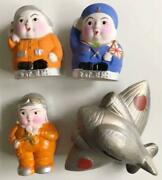 Military Antique During The War Soldier Piggy Bank Set Pottery From Japan