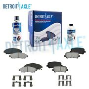 Front And Rear Ceramic Brake Pads W/ Hardware For Honda Pilot Acura Mdx Zdx