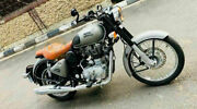 Stylish Cross Cruiser Seat Tan Brown Single Rider For Royal Enfield Classic