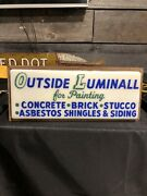 Vintage Early Asbestos Roofing Siding Light Up Sign Paint
