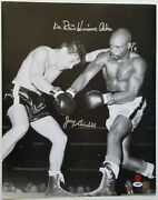 Rubin Hurricane Carter And Joey Giardello Dual Signed 16x20 Photo Si And Psa/dna