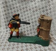 William Tell And Apple Shooting Cast Iron Mechanical Piggy Bank Reproduction