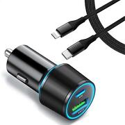 Quick Car Charger 36w Pd Cable Usb-c Port Power Adapter For Iphones Ipads Ipods