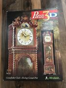 Puzz 3d Grandfather Working Clock 34 Inches High Wrebbit 777 Pieces
