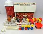 Vtg 1967 Fisher Price Little People Play Family Farm Toy Set 915 Complete Db21