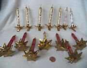 Vintage Glass Italy Candle Clip On Christmas Tree Ornaments Glitter Lot Of 14
