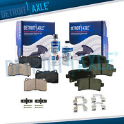 Front And Rear Ceramic Brake Pads W/ Hardware For 2013 - 2019 Cadillac Xts