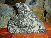 Beautiful Galena Lead, Crystal Pyrite And Crystal Calcite Cluster 7 1/2 Lbs.