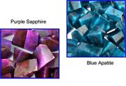 Us Seller Natural 2000 Ct Purple Sapphire And Apatite Gemstone Polished Rough Lot