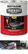 Rust Oleum Black Coat Truck Bed Liner Brush Roll On Protect Scratch 32-ounce New