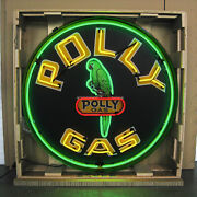 New Gas Polly Business Art Deco Marquee Vintage Look Light Neon Sign 36x36x6