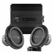 Pair Of Ds18 Zxi12.4d 12 4000w Dual 4 Ohm Subwoofer And H-ko2 Monoblock Amplifier