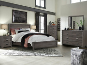New Brown Gray Queen King Full Twin 5pc Bedroom Set Rustic Furniture Bed/d/m/n/c