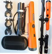 Gp-pointer Pinpointer Metal Detector With Holster Flashlight 2 Clips Lanyard