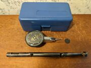 Brown And Sharpe .00005 Inch Dial Indicator W/ Case-moore Dog Leg Indicator Holder