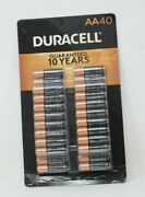 Duracell Coppertop Aa Alkaline Batteries - 40 Count Mn15tb40