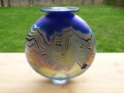 Charlie Miner Iridescent Abstract Pulled Feather Vase