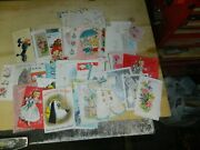 Vintage Greeting Card Lot Of 66.b-dayvalentinesgraduation 1940and039s/50 New And Used