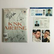 Knk 'airline - Off' All Signed Album + Inseong Ticket + Seoham Sticker And Pc Set