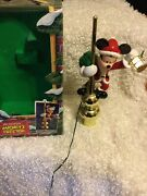 Mr Christmas Mickey Mouse Tree Top Animated Lighted Tree Topper 1994 W/box