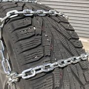 Snow Chains P265/75r15 P265/75 15 Square Tire Chains W/ Spider Tensioners