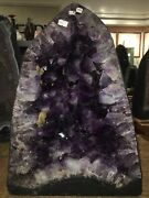 """Giant 101 Lbs Brazilian Amethyst Cathedral Geode Museum Quality 14x19x9""""d 55"""