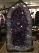 Giant 90 Lbs Brazilian Amethyst Cathedral Geode Museum Quality 11x21x11 D 56