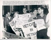1966 Photo Ny Conservative Freedom Young Americans Webster Hall Sign Wirephoto