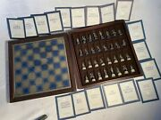 National Historical Society Civil War Pewter Chess Set, Franklin Mint 1983