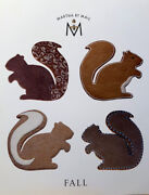 Martha By Mail Giant Copper Cookie Cutter Fall Set Sugar Squirrel And Mighty Acorn