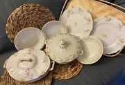 French Antique Dinner Plates, Bowls, Tureens By Haviland, Limoges