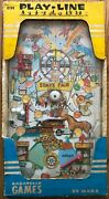 Vintage Marx Play-line Action Bagatelle Pinball Game In Original 13x25 Box Wow