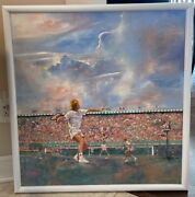 Davis Cup By Nec Canada Vs The Netherlands Original Oil Of Poster Sep 21-23 1990