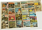 Lot Of 106 Sawyer's Gaf Viewmaster Reels Books Natl Parks Disney Wizard Of Oz